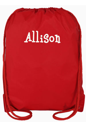 Red Drawstring Backpack #8881-RED