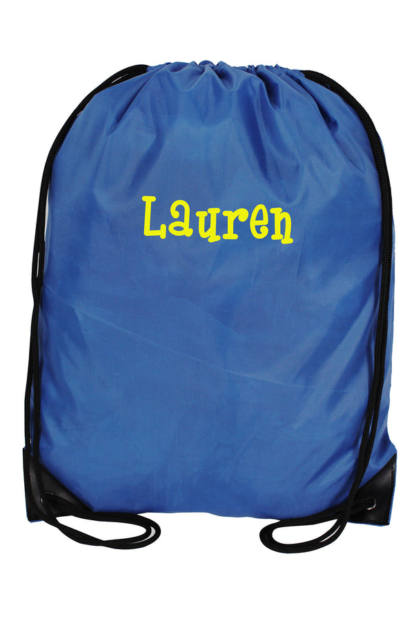 Royal Blue Flat Drawstring Backpack #8886-ROYAL