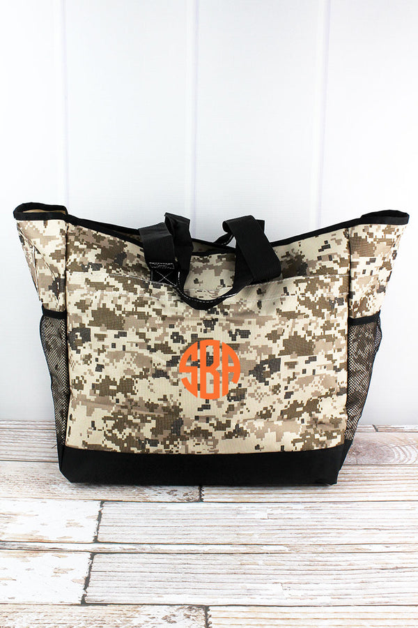 Digital Camo Everyday Organizer Tote