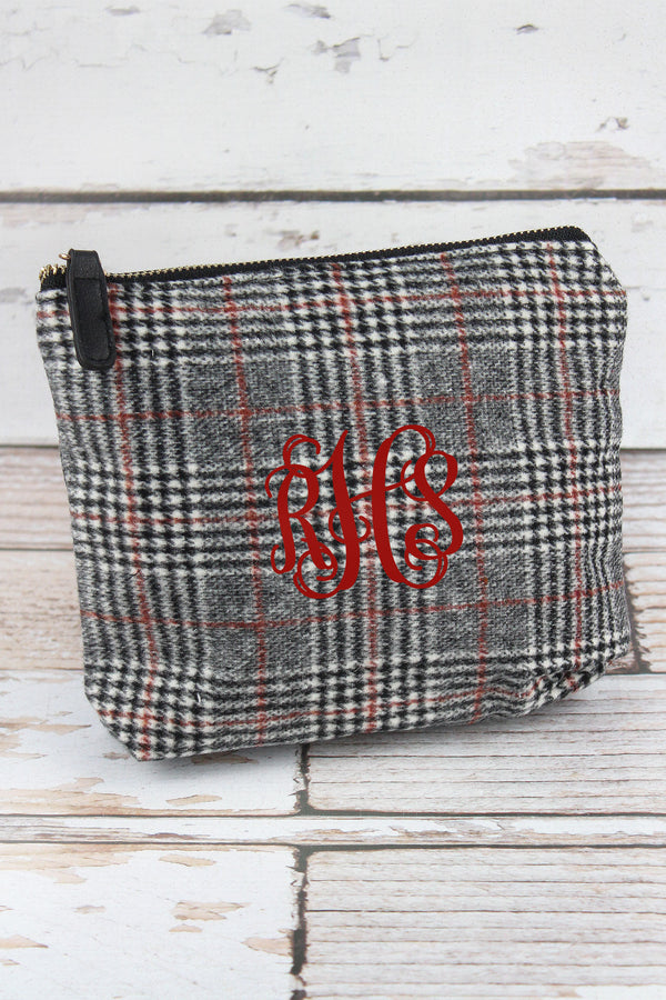 Black Glen Check Pouch