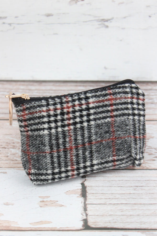 Black Glen Check Coin Purse