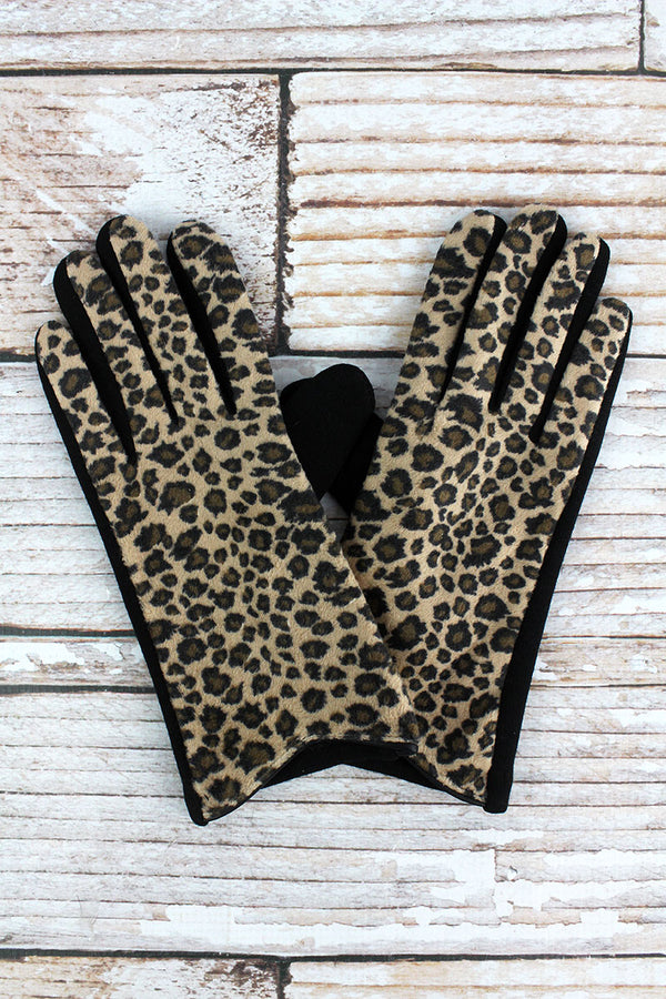 One Pair Seeing Spots Smart Touch Gloves, Brown