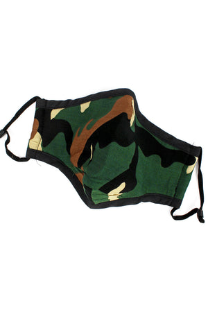 Woodland Camo Two-Layer Fashion Face Mask