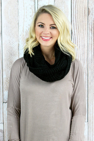 Endless Warmth Infinity Scarf, Black