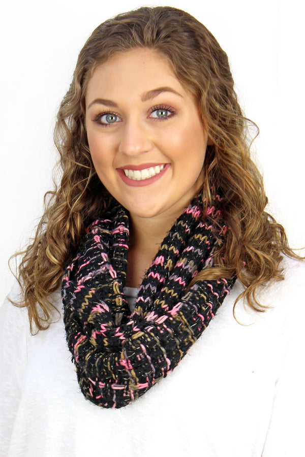 The Right Direction Infinity Scarf, Black