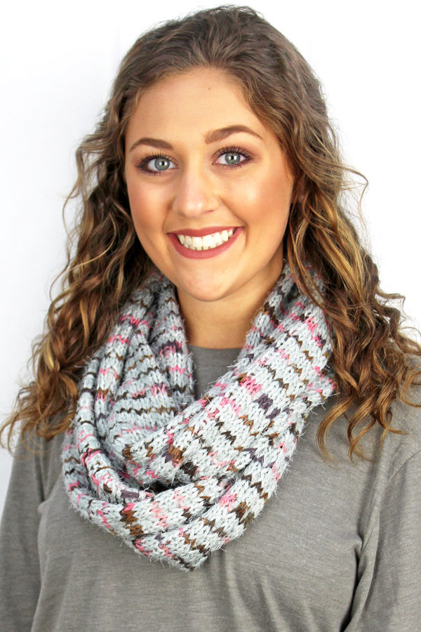 The Right Direction Infinity Scarf, Gray