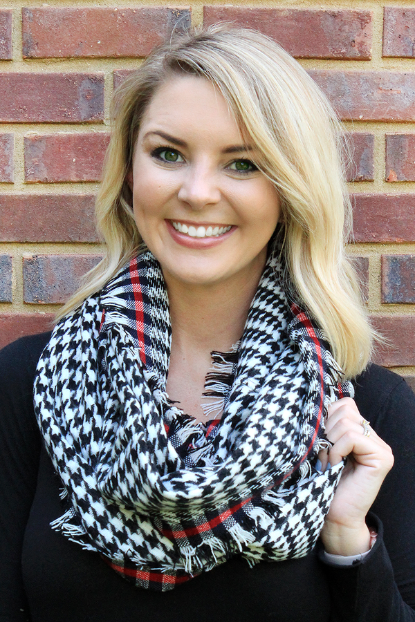 Haute For Houndstooth Infinity Scarf, Black