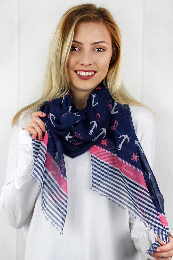 Seas The Day Scarf, Pink
