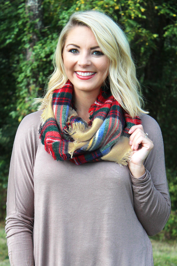 Taste of Fall Infinity Scarf, Beige