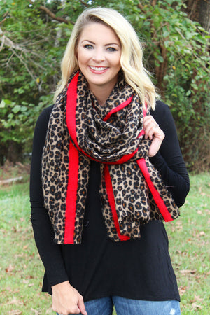 Wild Side Scarf, Brown