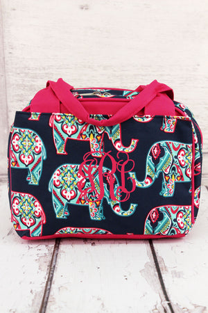 Preppy Ellie Insulated Bowler Style Lunch Bag with Hot Pink Trim #ELE255-HPINK