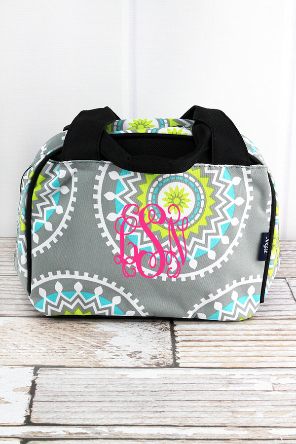 Mandala Garden Insulated Bowler Style Lunch Bag