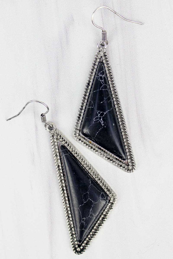 Montenegro Black Triangle Earrings