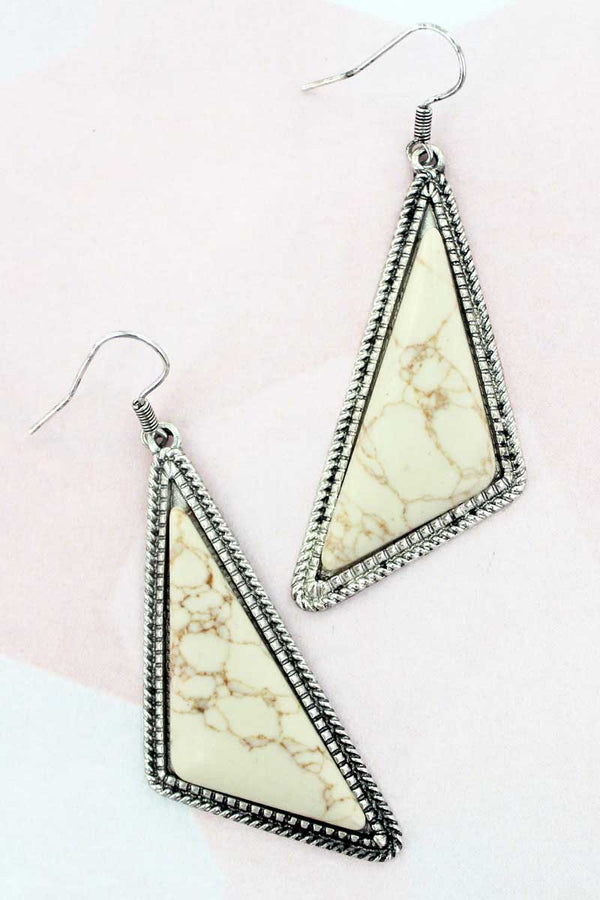 Montenegro Natural Triangle Earrings