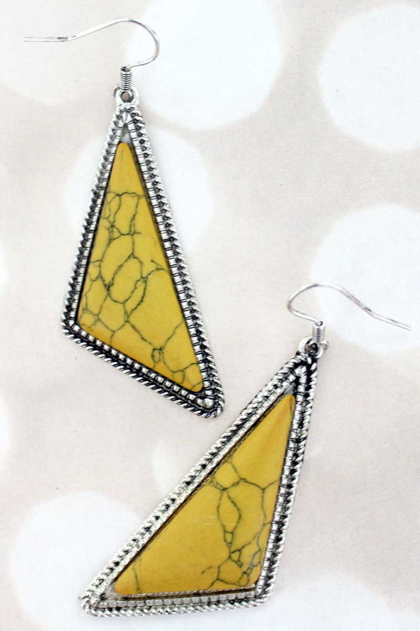 Montenegro Yellow Triangle Earrings