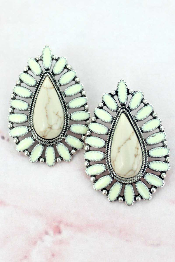Maricopa Natural Teardrop Earrings