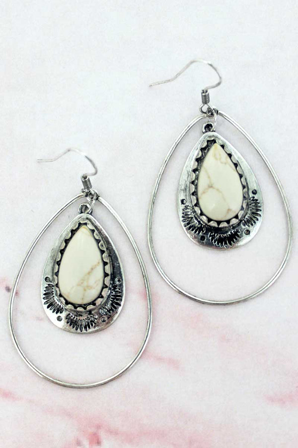 Paso Robles Natural Teardrop Earrings