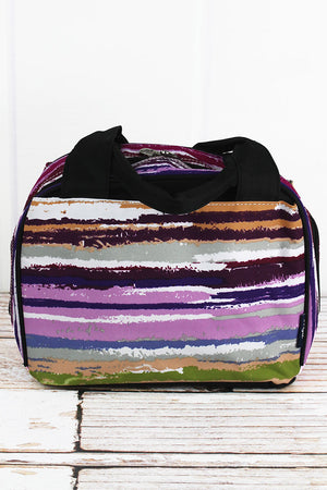 On The Horizon Insulated Bowler Style Lunch Bag with Black Trim