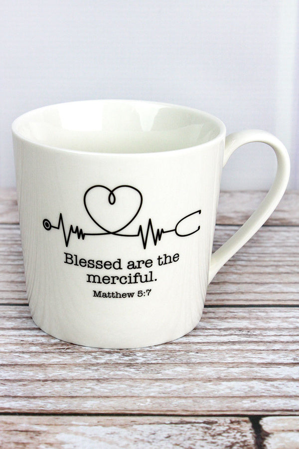 Blessed Are The Merciful Cafe Mug