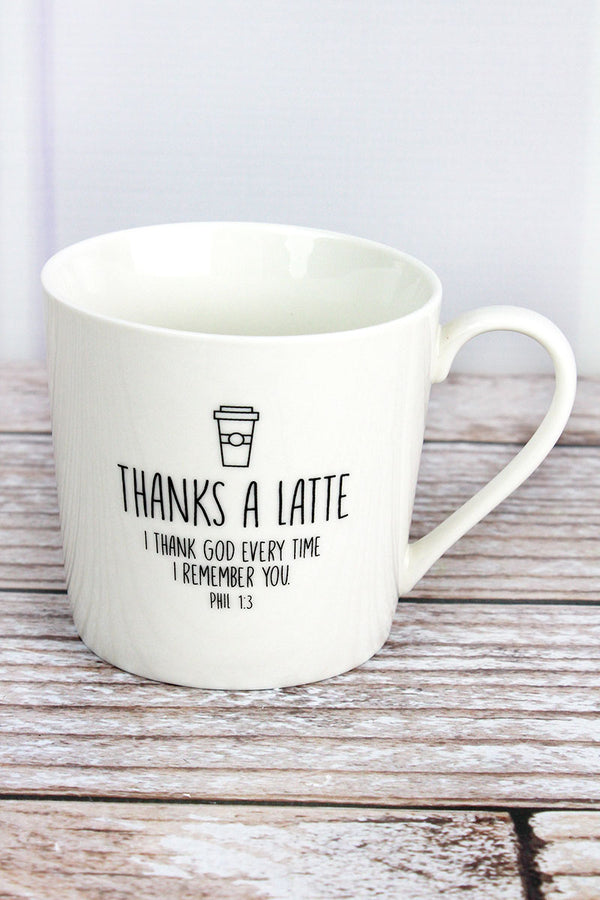 Thanks A Latte Cafe Mug