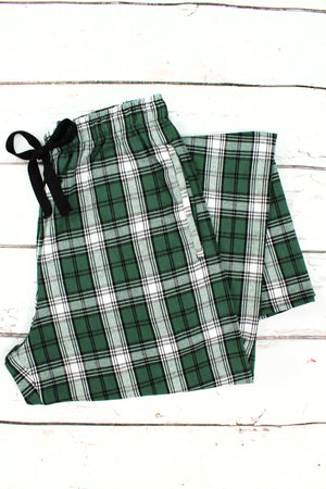 Boxercraft Green and White Plaid Flannel Pajama Pant *Personalize It