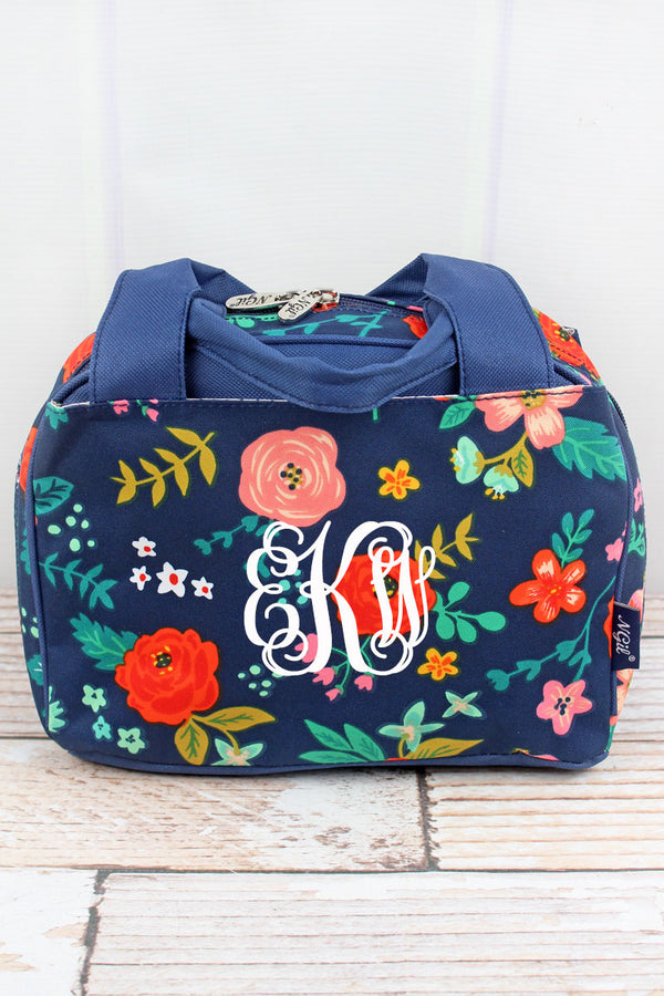 Spring Blossoms Insulated Bowler Style Lunch Bag