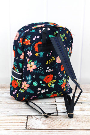 Spring Blossoms Quilted Backpack