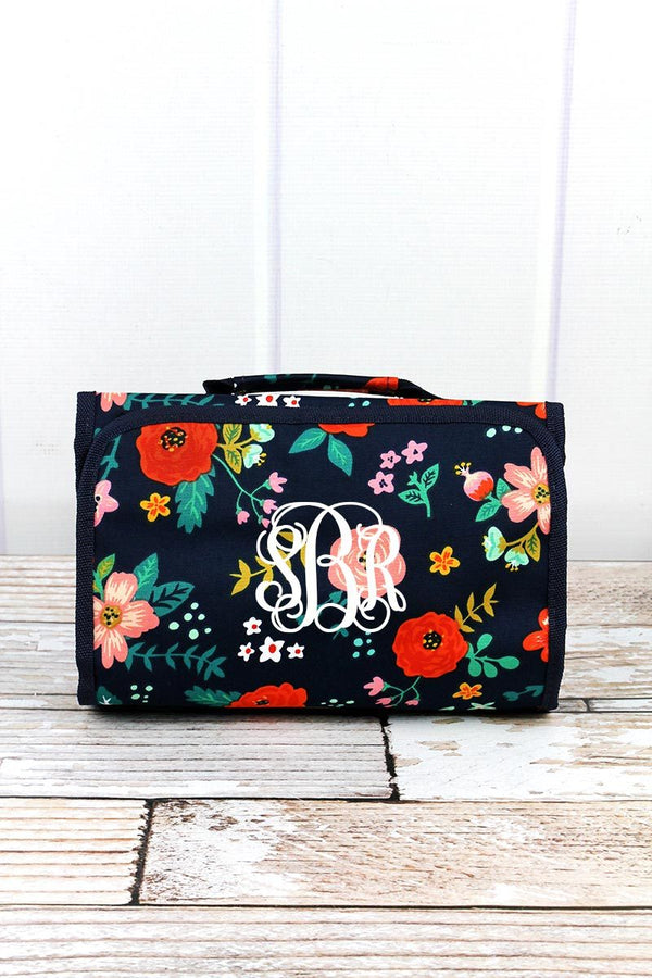 Spring Blossoms Roll Up Cosmetic Bag