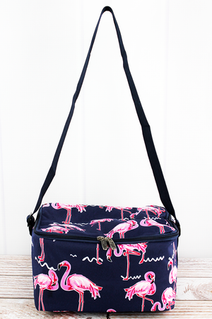 Flamingo Party Insulated Shoulder Lunch Bag