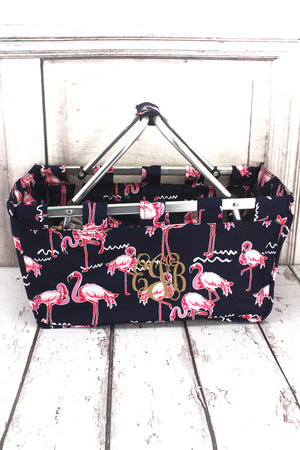 Flamingo Party Collapsible Market Basket