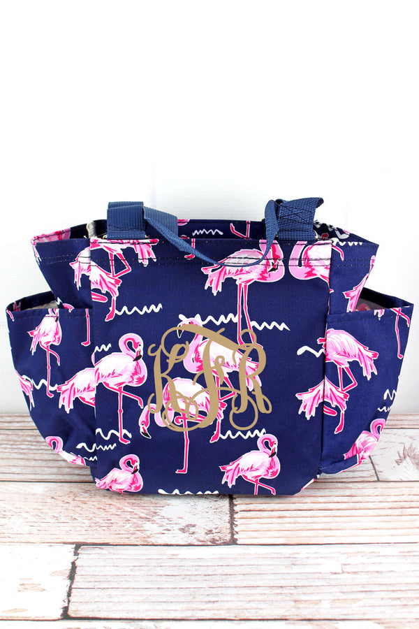 Flamingo Party Organizer Tote