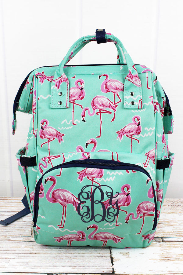 Flamingo Dance Diaper Bag Backpack
