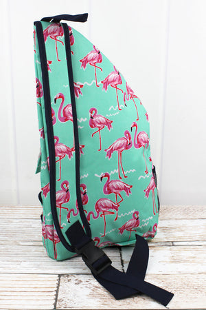 Flamingo Dance Sling Backpack