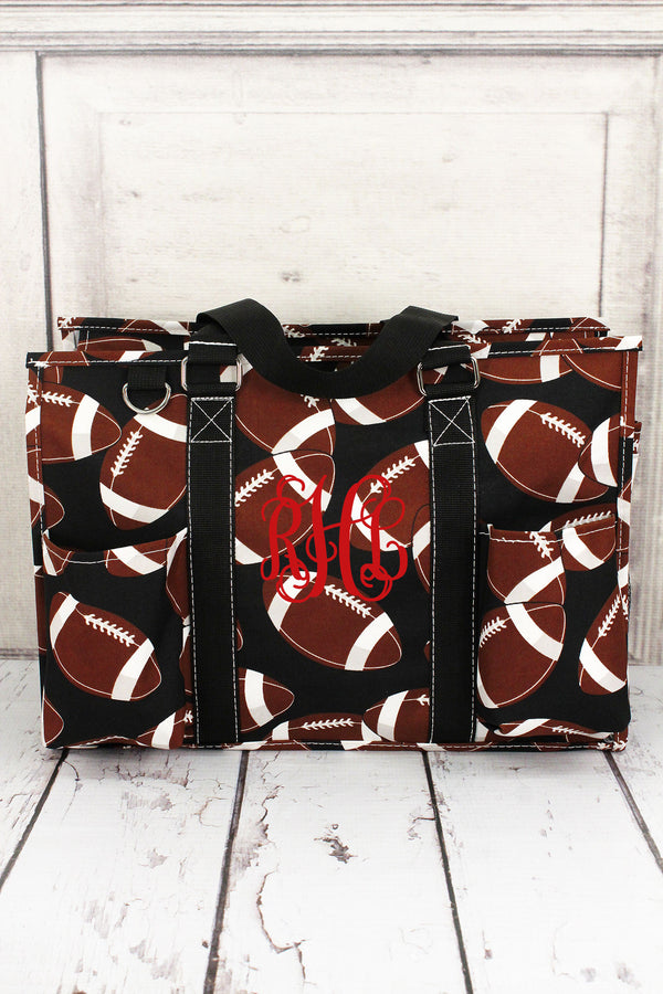 Football Utility Tote with Black Trim #FTQ731-BLACK