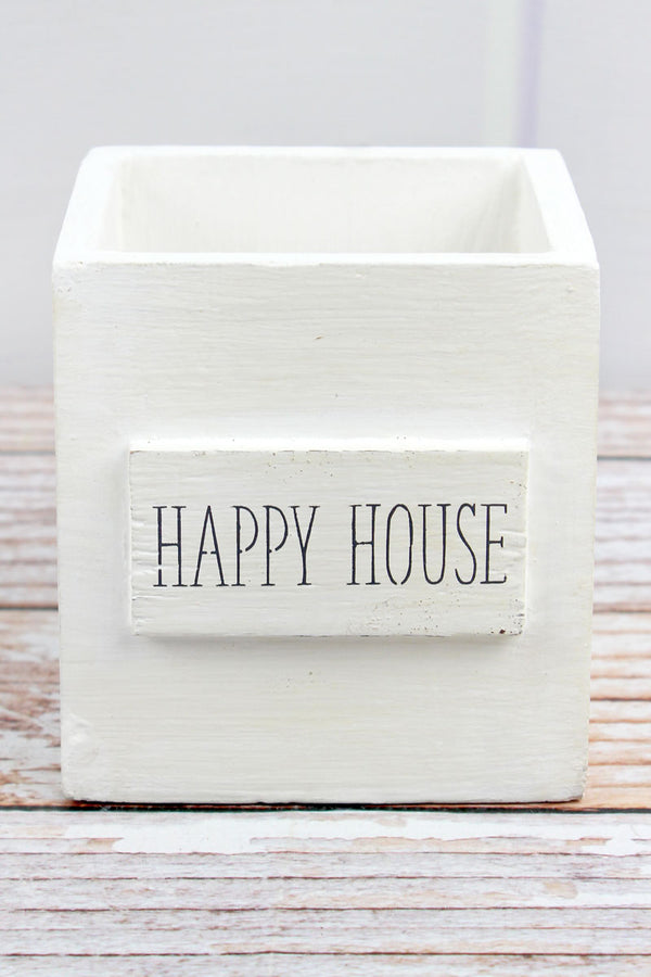 4.5 x 4.25 Happy House Wood Nesting Box