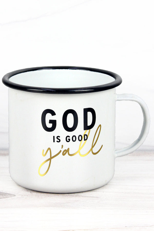 God Is Good Y'all Enamel Mug