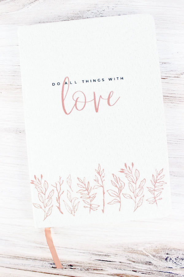 Do All Things With Love Linen Journal