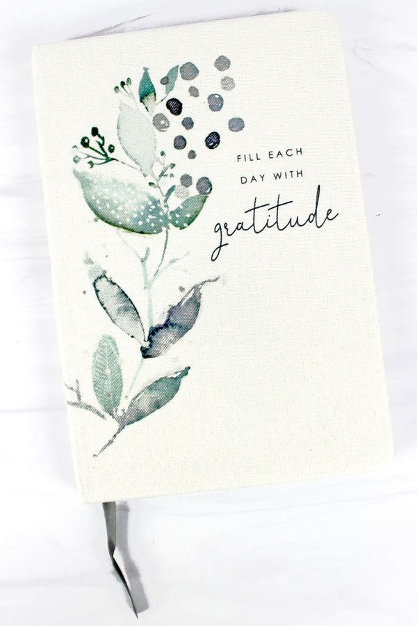Fill Each Day With Gratitude Linen Journal