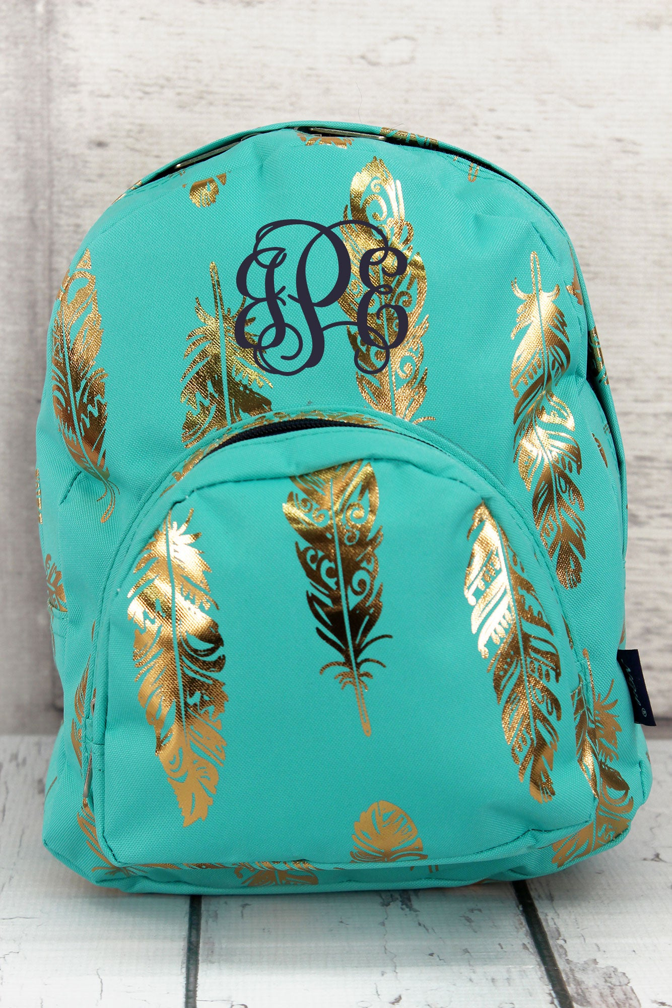 76411cbd3f5e Metallic Gold Fancy Feathers Mint Small Backpack