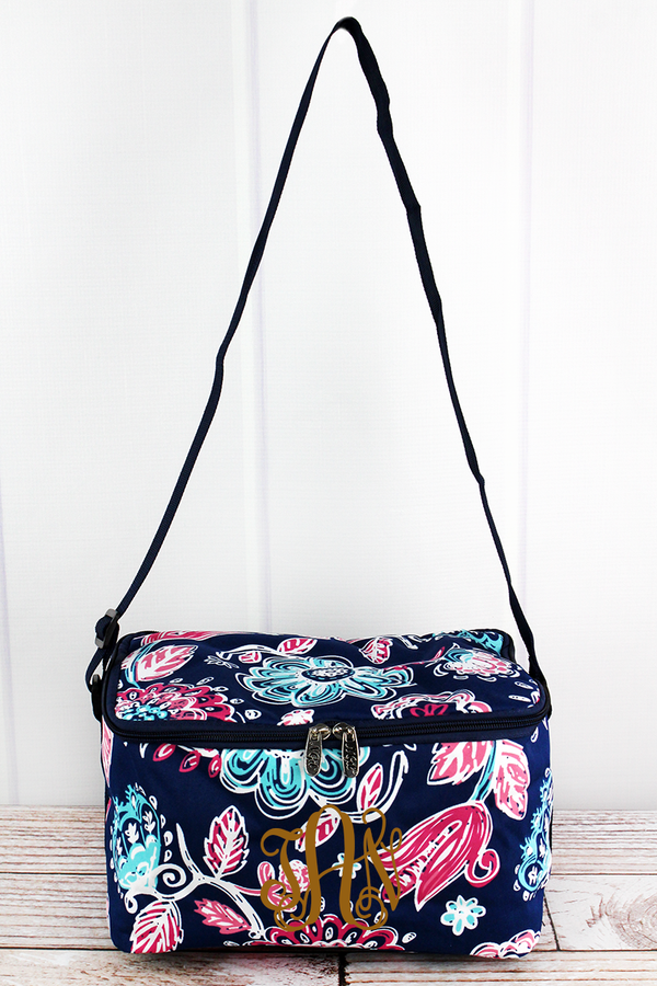 Summer Blooms Insulated Shoulder Lunch Bag