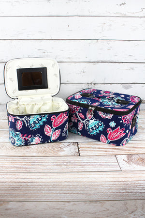 Summer Blooms 2 Piece Cosmetic Case Set