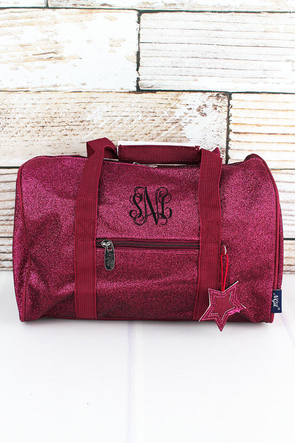 Hot Pink Glitz & Glam Petite Duffle Bag 12""