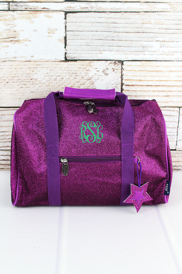 Purple Glitz & Glam Petite Duffle Bag 12""