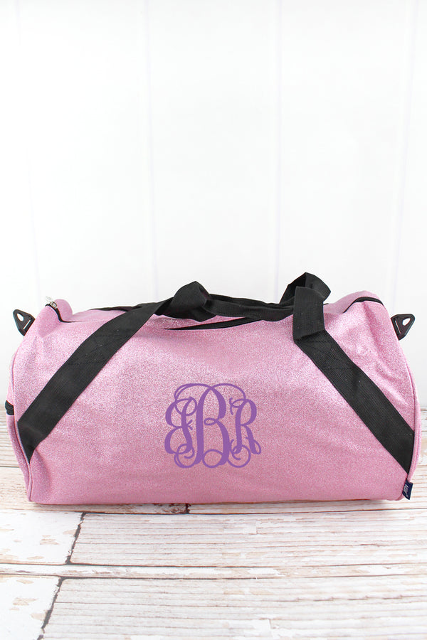 Pink Glitz & Glam Barrel Duffle Bag 18""