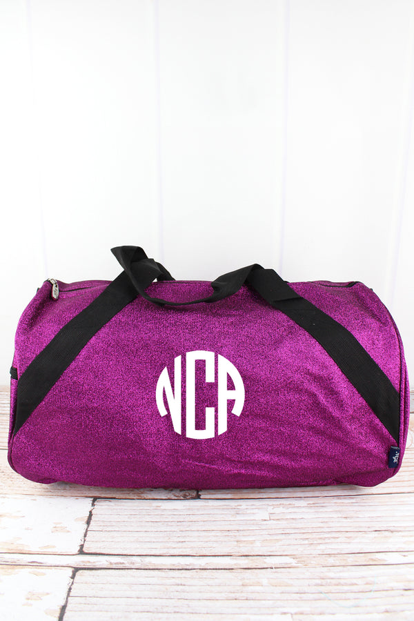 Purple Glitz & Glam Barrel Duffle Bag 18""