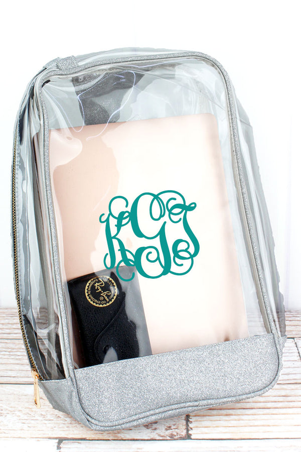 Clear Sling Backpack with Silver Glitz & Glam Trim