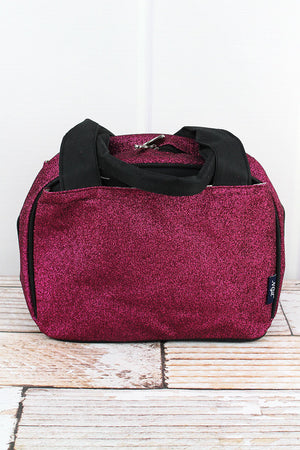 Hot Pink Glitz & Glam Insulated Bowler Style Lunch Bag