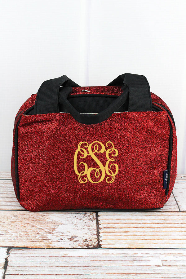 Red Glitz & Glam Insulated Bowler Style Lunch Bag
