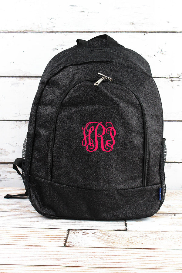 Black Glitz & Glam Large Backpack