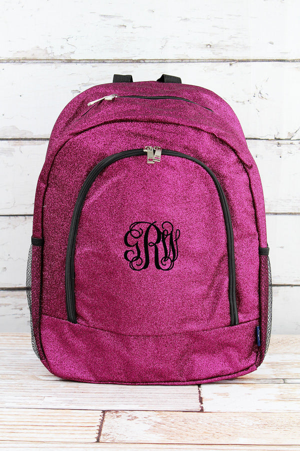 Hot Pink Glitz & Glam Large Backpack